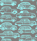 Vector seamless dark background with retro cars Stock Images