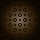 Vector Seamless Dark Damask Royalty Free Stock Photography