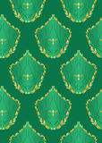 vector seamless dark green texture Stock Photography
