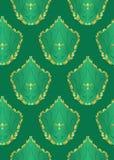 Vector seamless dark green texture. Seamless  dark green texture - vector Stock Photography