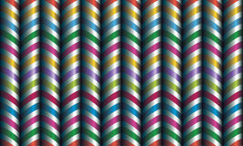 Vector seamless decor. Zigzag of satin ribbons Stock Image