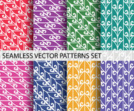 Vector seamless decoration pattern set Stock Photos