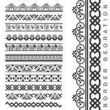 Vector Seamless Decorative Borders Royalty Free Stock Images