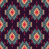 Vector seamless decorative ethnic pattern. American indian motifs Stock Image