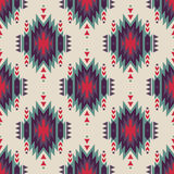 Vector seamless decorative ethnic pattern. American indian motifs. Background with aztec tribal ornament Royalty Free Stock Images