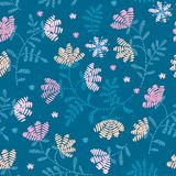 Vector seamless decorative floral embroidery pattern, ornament for textile   Stock Images
