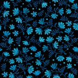 Vector seamless decorative floral embroidery pattern   Stock Photos
