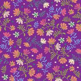 Vector seamless decorative floral embroidery pattern, ornament for textile decor.   Stock Photography