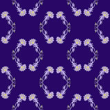 Vector seamless decorative pattern. elements for design. in violet and yellow colors Stock Image