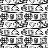 Vector seamless decorative pattern Stock Photo