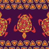 Vector seamless decorative pattern with multicolor ornamental tu Stock Image