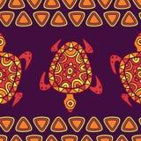 Vector seamless decorative pattern with multicolor ornamental tu Stock Image