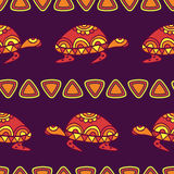 Vector seamless decorative pattern with multicolor ornamental tu Stock Photos
