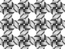 Vector seamless pattern of woven bars. Stipple texture. Vector seamless decorative pattern of woven bars. Stipple texture on white background stock illustration