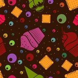 Vector seamless dessert background. Eps10 Stock Image