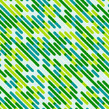 Vector Seamless Diagonal Blue Green Color Overlay Lines Pattern Background Stock Image
