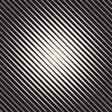 Vector Seamless Diagonal Lines Halftone Pattern. Diagonal Lines Halftone Circular Frame. Abstract Geometric Background Design. Vector Seamless Black and White Stock Photography