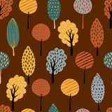 Vector seamless doodle background with textured fall yellow and Stock Photos