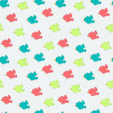 Vector seamless doodle birds pattern Stock Photography