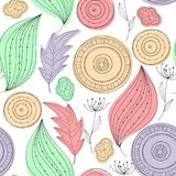 Vector Seamless Doodle floral pattern Stock Images