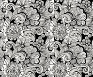 Vector Seamless Doodle Floral Pattern Stock Photography