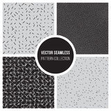Vector Seamless Dots BW Pattern Collection Royalty Free Stock Image