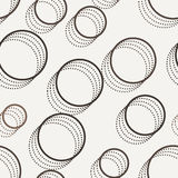 Vector seamless dotted and lined pattern Stock Photo