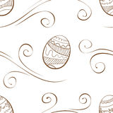 Vector. Seamless easter background with eggs Royalty Free Stock Photography