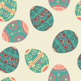 Vector seamless Easter eggs pattern. Elegant Stock Photography