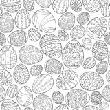 Vector seamless easter pattern in doodle style. Hand drawn holiday background - ornamental design.  Stock Images