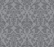 Vector. Seamless elegant damask pattern. Grey Royalty Free Stock Photo