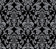 Vector. Seamless elegant damask pattern. Royalty Free Stock Photos