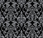 Vector. Seamless elegant damask pattern. Grey and black Royalty Free Stock Photos