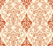 Vector. Seamless elegant damask pattern. Stock Image