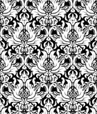 Vector. Seamless elegant damask pattern. White and black Royalty Free Stock Photography