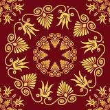 Vector seamless elegant lace gold ornament Stock Photography