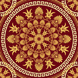 Vector seamless elegant lace gold ornament Royalty Free Stock Photos