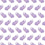 Vector seamless elephant baby pattern background. Royalty Free Stock Photos