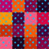 Vector seamless ethnic patchwork pattern Royalty Free Stock Photos