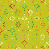 Vector seamless ethnic pattern. With american indian motifs. Aztec background. Textile print with navajo tribal ornament. Native american art Royalty Free Stock Photos
