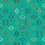 Vector seamless ethnic pattern. With american indian motifs. Aztec background. Textile print with navajo tribal ornament. Native american art Royalty Free Stock Image