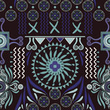Vector seamless ethnic pattern. Colorful backdrop with abstract elements. Native american design, Navajo. Mexican motif. Vector seamless ethnic pattern. Colorful Stock Image
