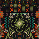Vector seamless ethnic pattern. Colorful backdrop with abstract elements. Native american design, Navajo. Mexican motif. Vector seamless ethnic pattern. Colorful Stock Images