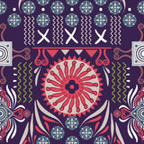 Vector seamless ethnic pattern. Colorful backdrop with abstract elements. Native american design, Navajo. Mexican motif. Vector seamless ethnic pattern. Colorful Royalty Free Stock Photos