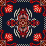 Vector seamless ethnic pattern. Colorful backdrop with abstract elements. Native american design, Navajo. Mexican native. Vector seamless ethnic pattern vector illustration