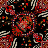 Vector seamless ethnic pattern. Colorful backdrop with abstract elements. Native american design, Navajo. Mexican native. Vector seamless ethnic pattern Stock Photography