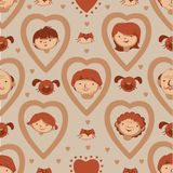 Vector seamless family Stock Images