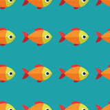 Vector seamless fish pattern. Ocean or aquarium background. Pattern seamless vector illustration. Concept background picture Royalty Free Stock Photos