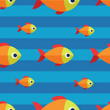 Vector seamless fish pattern. Ocean or aquarium background. Pattern seamless vector illustration. Concept background picture Stock Photos