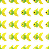 Vector seamless fish pattern. Ocean or aquarium background Royalty Free Stock Photo